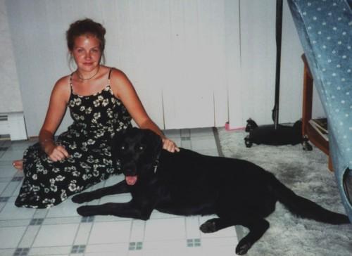 Black White Flower Dress 2000