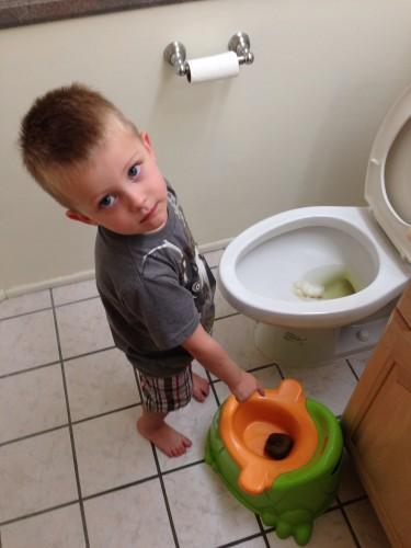 Aidan 1st Poop